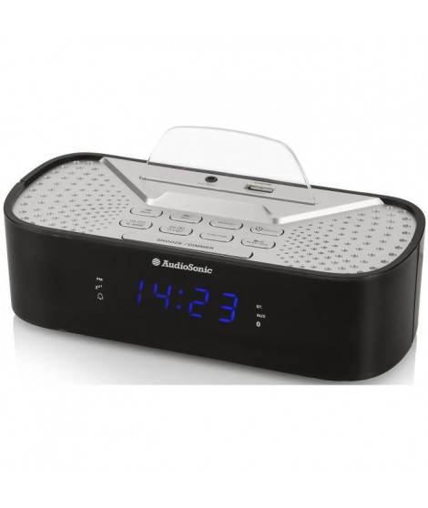 AUDIOSONIC CL-1463 Radio Réveil Bluetooth - Port de chargement USB