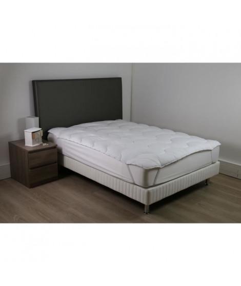 DODO Sur-matelas 90x190 - Polyester fibre haute technologie 470 gr/m² - Moelleux - CONFORT+