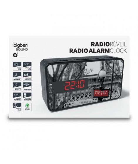 BIGBEN RR15METRO Radio réveil - Affichage LED - Snooze - Métro