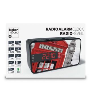 BIGBEN RR15 TELEPHONE BOX Radio réveil - Affichage LED - Snooze - Londres
