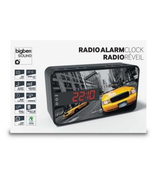 BIGBEN RR15TAXI Radio réveil - Affichage LED - Snooze - Taxi