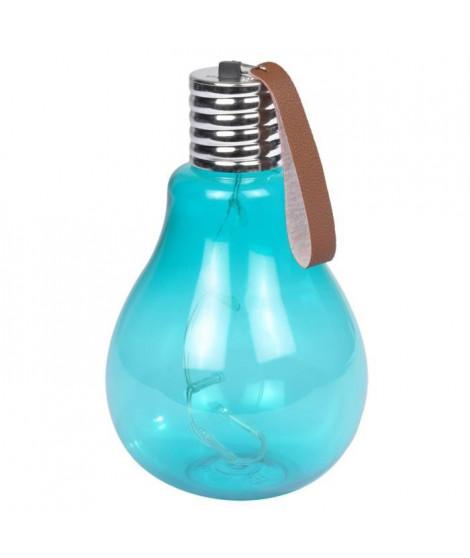 Ampoule a suspendre 11,5x11,5x20cm - Turquoise