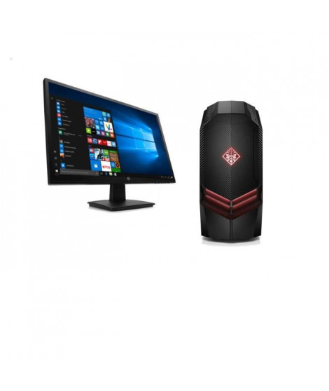"HP PC GAMER OMEN - 880083nf - 8 Go de RAM - Windows 10- Intel Core i5-7400- NVIDIA GTX 1050 - Disque dur 1 To + Ecran 27"" 1 ms"