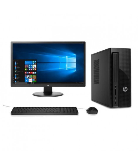 "HP PC BUREAU - HP260a147nf - 8 Go de RAM - Windows 10- AMD A6 -7310 - AMD Radeon R4 - Disque dur 2 To + Ecran 24"" -1 ms"