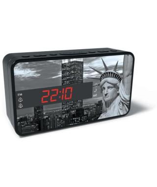 BIGBEN RR15LIBERTY Radio réveil - Affichage LED - Snooze - Statue de la liberté