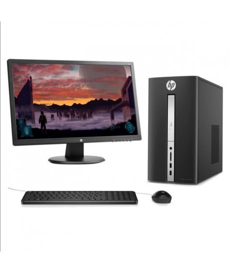 "HP PC Pavilion- 570p017nf - 4 Go de RAM - Windows 10 - INTEL CORE I3-7100 - INTEL HD GRAPHICS- Disque dur 1To + Ecran 24"" 1ms"