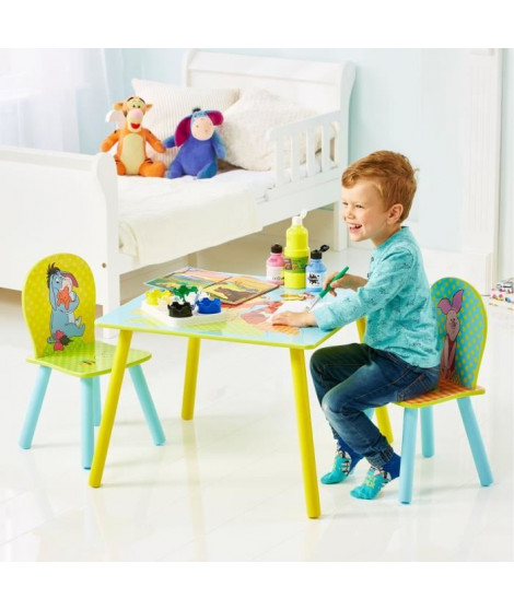 WINNIE L'OURSON Table et Deux Chaises