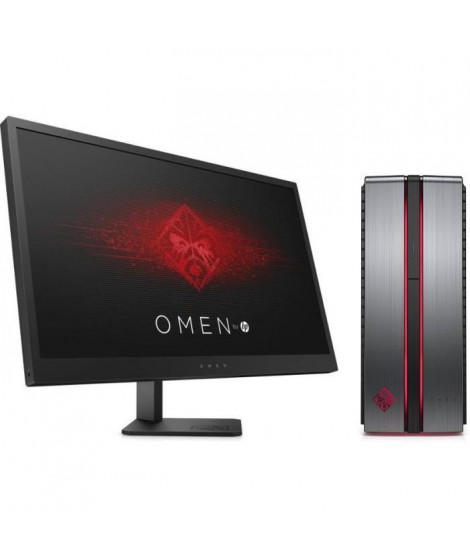 "HP Omen 870-209nf - RAM 8Go - Intel Core i7-7700 - NVIDIA GeForce GTX 1060 - Stockage 128Go SSD + 1To + Ecran Omen 25"" 144Hz"