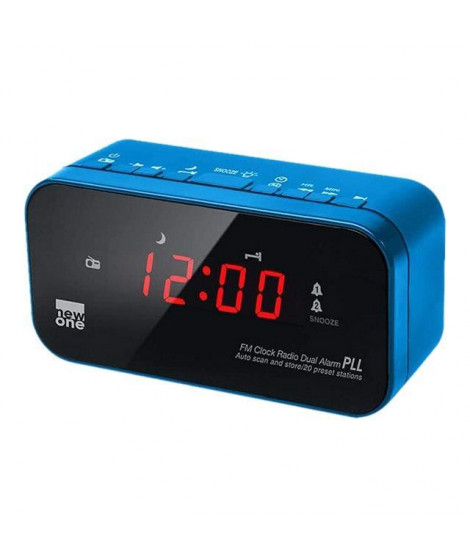 MUSE CR 120 BL Radio réveil double alarme Bleu