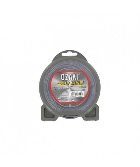 JARDIN PRATIQUE Fil nylon alu line OZAKI pour débroussailleuse - Ø 2  mm - L 15 m