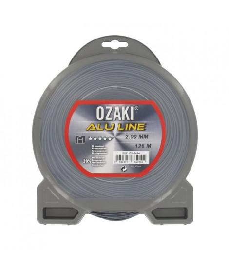 JARDIN PRATIQUE Fil nylon alu line OZAKI pour débroussailleuse - Ø: 2  mm - L 126 m