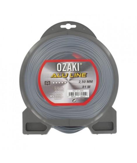 JARDIN PRATIQUE Fil nylon alu line OZAKI pour débroussailleuse - Ø 2,5  mm - L 81 m