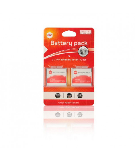 MP EXTRA  QA-PL40-WZ6D  Pack de 2 batteries NPBN1 pour SONY