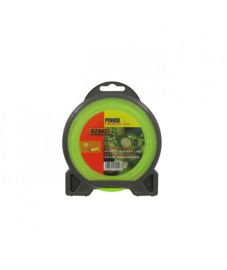 JARDIN PRATIQUE Fil nylon rond premium line OZAKI pour débroussailleuse - Ø 2,40 mm - L 15 m