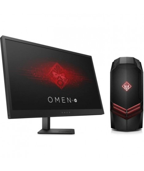 "HP PC de Bureau Gamer Omen 880096nf - RAM 8Go - AMD RYZEN 7 1700 - NVIDIA GTX 1050 - Stockage 1To + Ecran Omen 25"" 144Hz"