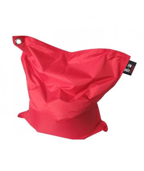Pouf XXL imperméable rouge 110x130 cm