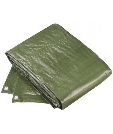 CONFLOR Bâche de protection polyethylene vert avec oeillets 2 x 3 m