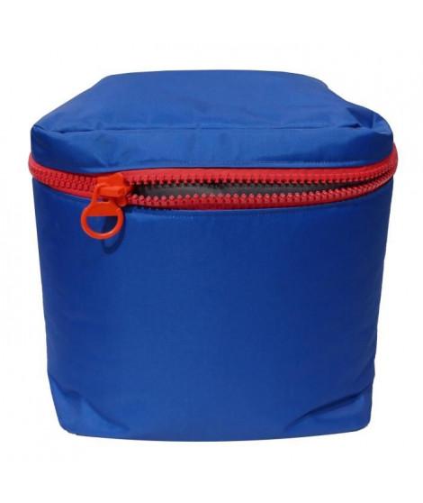 Pouf carré 40x40 cm bleu
