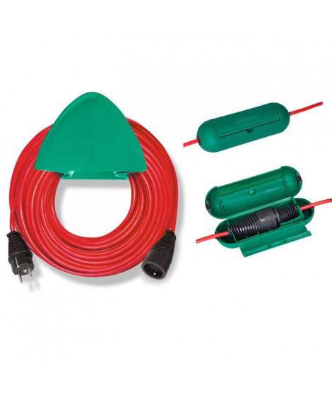 BRENNENSTUHL Rallonge rouge 20m H05VV-F 3G1.5 avec support mural et safe-box