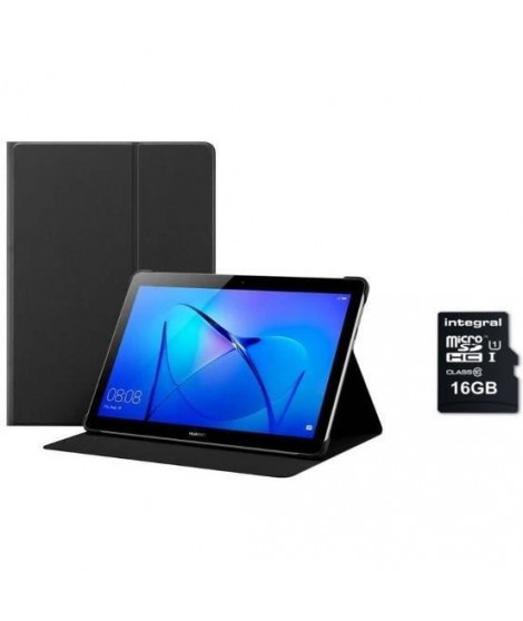 "HUAWEI Tablette tactile MediaPad T3 10 9.6"" HD -RAM 2Go - Qualcomm MSM8917 - Stockage 16Go + Etui + Micro SDHC 16 GB"