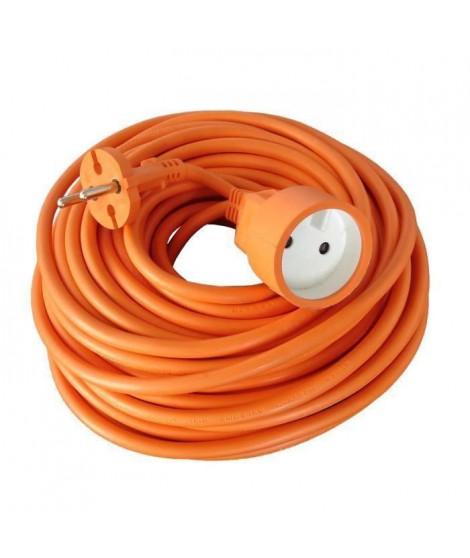Rallonge électrique HO5VVF 2 x 1.5 Orange 25m