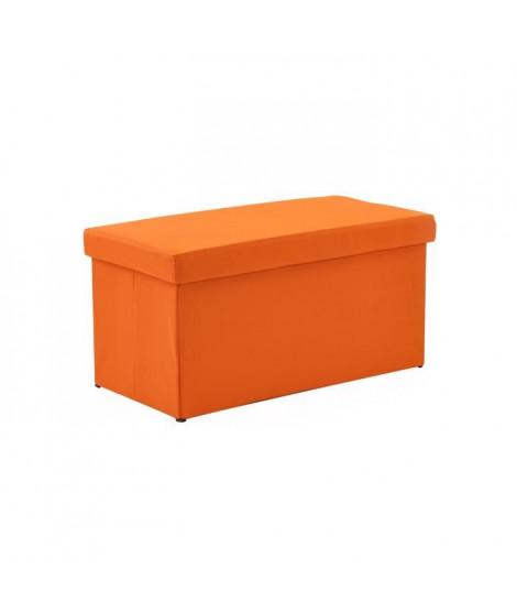 Coffre pouf pliant SUNNY 2 places orange