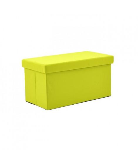 Coffre pouf pliant SUNNY 2 places vert
