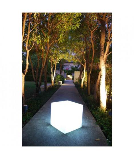 Cube lumineux blanc 40 cm ampoule E27
