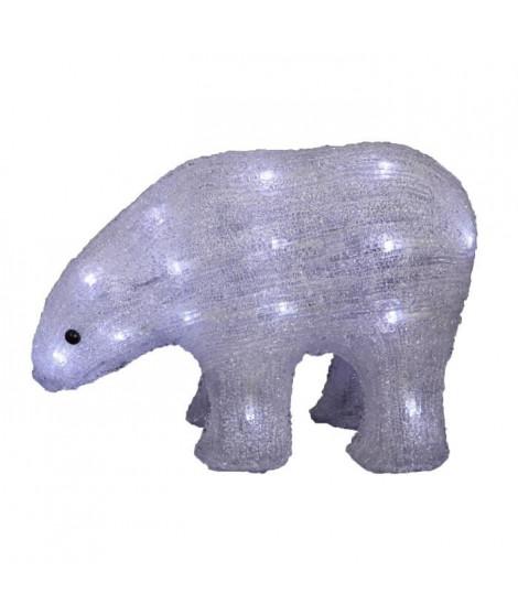 Ours solaire - Acrylique - 30 LEDS blanc froid - 24 cm