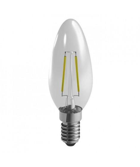 DURACELL Ampoule LED E14 a filaments flamme 2,4 W équivalent 25 W blanc chaud