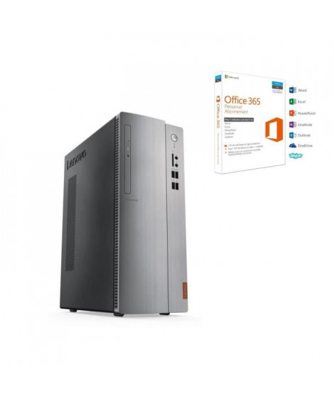 LENOVO PC de bureau 310S-08IAP -RAM 4Go - Intel Pentium J4205- Stockage 2To - Intel HD Graphics 505 + Office 365 Personnel
