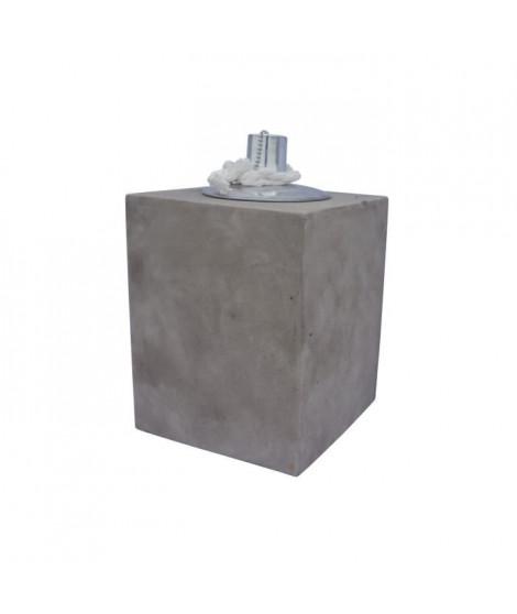 HOMEA Lampe a huile déco esprit béton H10 cm beige