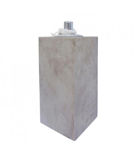 HOMEA Lampe a huile déco esprit béton H30 cm beige