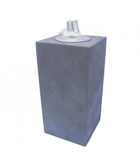 HOMEA Lampe a huile déco esprit béton H30 cm gris