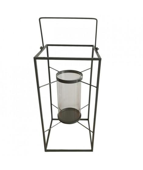 HOMEA Lanterne en métal 24x24xH48 cm gris