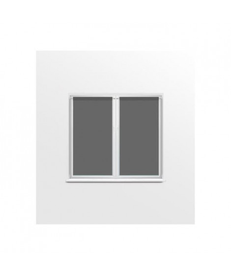 SUCRE D'OCRE Paire de brise bise DOLLY - 70x120cm - Polyester Anthracite
