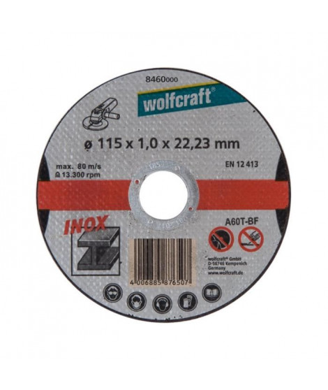 WOLFCRAFT Lot de 3 disques a tronconner l'inox - Diametre: 125 mm