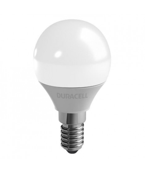 DURACELL Ampoule LED E14 sphérique 3,4 W équivalent 25 W blanc chaud
