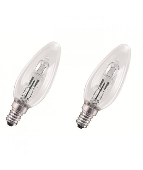 OSRAM Lot de 2 ampoules E14 halogene flamme Classic SuperStar 30W équivalence 40W