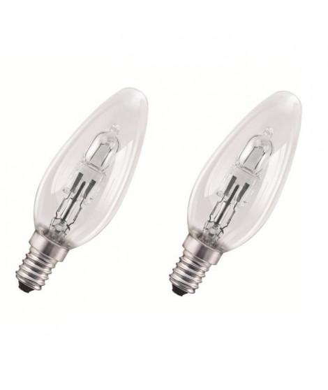 OSRAM Lot de 2 ampoules E14 halogene flamme Classic SuperStar 46W équivalence 60W