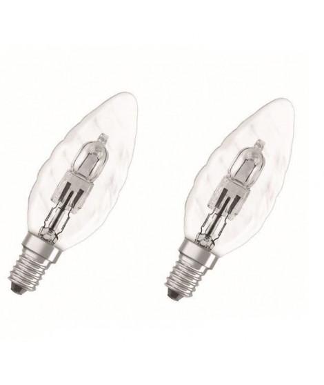 OSRAM Lot de 2 ampoules E14 halogene flamme torsadée Classic SuperStar 30W équivalence 40W