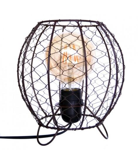 Lampe de table perforée Wirya 20 cm noir