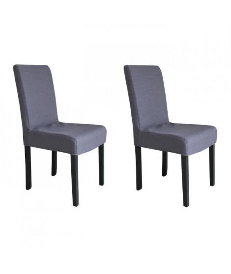 STRIP Lot de 2 chaises de salle a manger grises