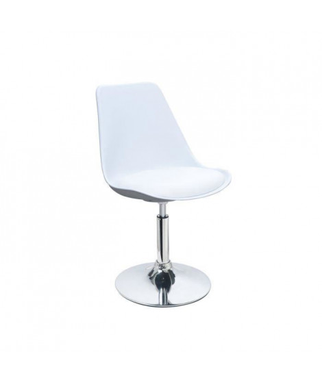 POPPY Chaise de salle a manger rotative blanche