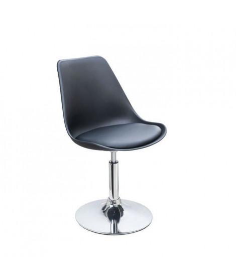 POPPY Chaise de salle a manger rotative noire