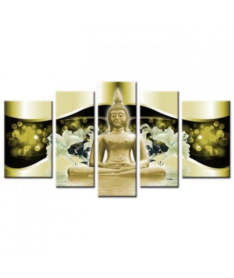 FINLANDEK Tableau multi panneau Zen Ylöjärvi 150x80 cm jaune