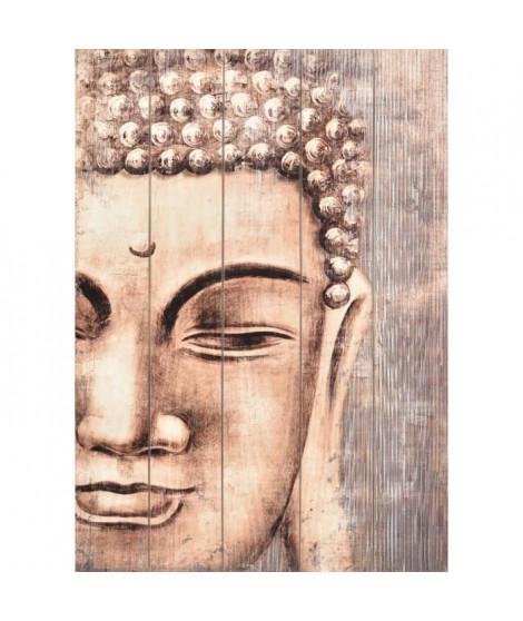 Tableau déco en panneaux de particules Buddha 50x70 cm beige
