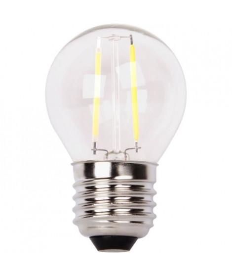 XQ-LITE Ampoule LED filament LED globe E27 2W équivalence 20W