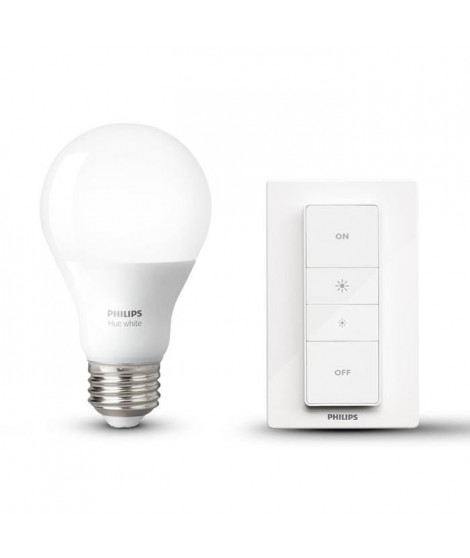 PHILIPS Hue Wireless Dimming Kit avec ampoule LED E27 60 W et télécommande