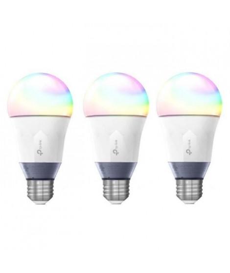 TP-LINK Lot de 3 Ampoules LED LB130 connectées Wi-Fi E27 avec changement de couleur, de blanc et de luminosité